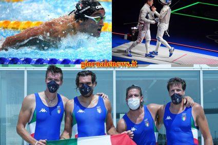 Tokio 2020, altre 3 medaglie per l'Italia: argento dalla scherma, bronzo nuoto e canottaggio