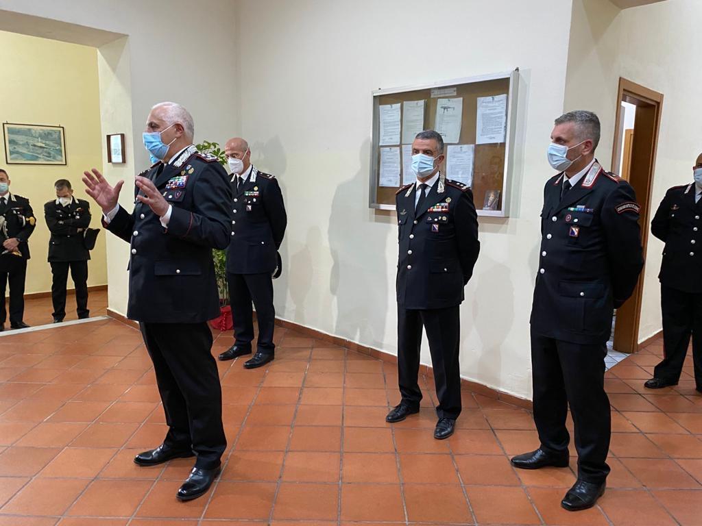 """Il Comandante Generale dell'Arma Dei Carabinieri in visita ai reparti della provincia partenopea. """"Grazie"""" ai militari impegnati quotidianamente per la sicurezza del cittadino"""