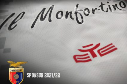 """""""Il Monfortino"""" sulle maglie della Casertana per la stagione 2021/22"""