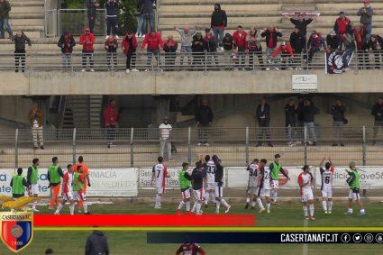 Favetta-Felleca, la Casertana la ribalta in 4 minuti: sconfitto il Nardò 2-1